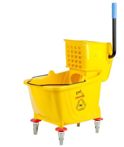 35 QT Yellow Combo Mop Bucket and Side Press Wringer Lavex
