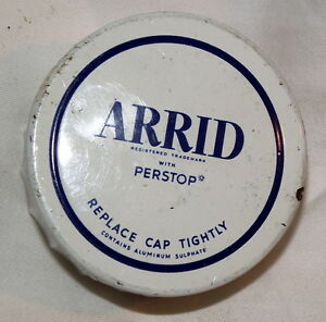 1940 ARRID Perstop  milk glass deoderant jar 2 X 1.25 in-$5