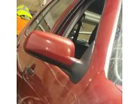 VW Golf Mk4 O/S Wing Mirror In Maroon Colour (2001)