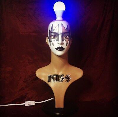 KISS LAMP Ace Frehley Statue Mannequin Original Art Halloween Colored Led Light - Original Halloween Kiss