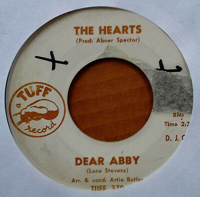 Girl Group   The Hearts   Dear Abby B W Sing Along Without     Tuff   Promo 45