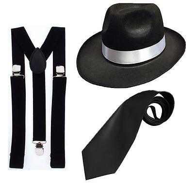 Gangster Set 20er Jahre Mafia Charleston Kostüm - - 20er Jahre Mafia Kostüm