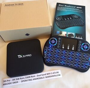 Android TV TX5 Pro 2GB Ram including wireless keyboard