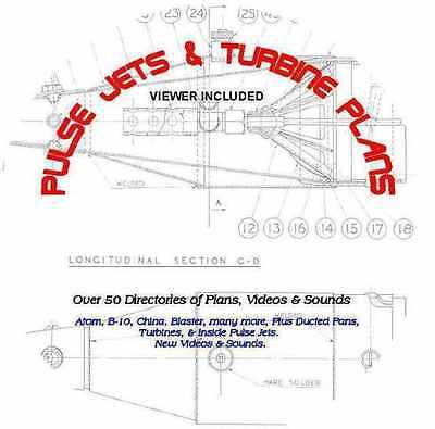 PULSE JETS & TURBINE PLANS 50 PLUS