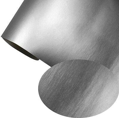 Autofolie Titangrau Matt Chrom metallic gebürstet 152 cm x 100 cm Luftkanäle