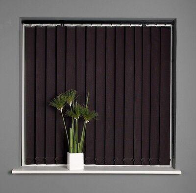 Sunlover Stripe Black Vertical Blind 122cm width x 137cm Drop NEW