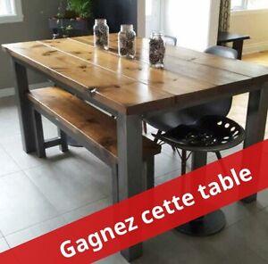 GAGNEZ une table de cuisine