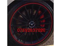 Alloy wheel protection AMG Mercedes C63 A45 CLA S63 C43 A180 C220 ML SLK CLK E55 GLA CLC GLC Benz
