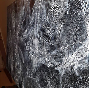 CUSTOM king size headboard made with real SNAKE SKIN painting