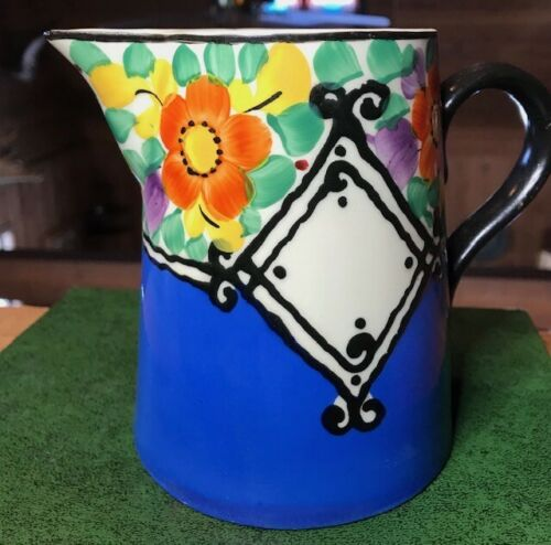 VINTAGE CZECH ART POTTERY PITCHER