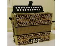 Hohner Vienna 2 row early 1960's (Key D/G) Rare collectors item