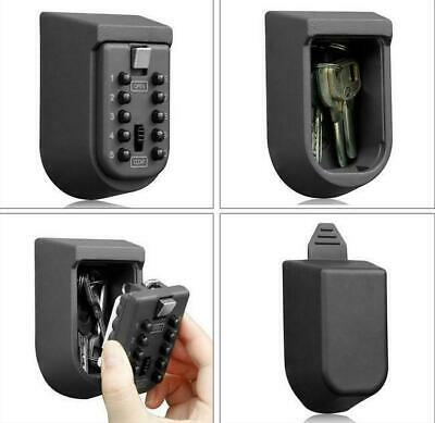Outdoor Wall-mountable Hide Key Storage Safe Lock Box Holder Box Security Black