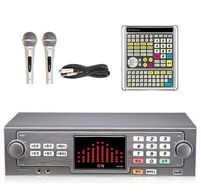 New TJ Taijin TKR-365HK Korean Karaoke Machine  - Wire 2Mic + Big Remote  Stock