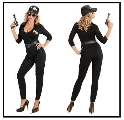FBI Agentin Damenkostüm Polizistin Polizei Karneval Fasching Kostüm - Polizei Kostüme Damen