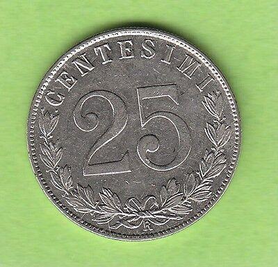 Italien 25 Centesimi 1902 hübsch selten nswleipzig