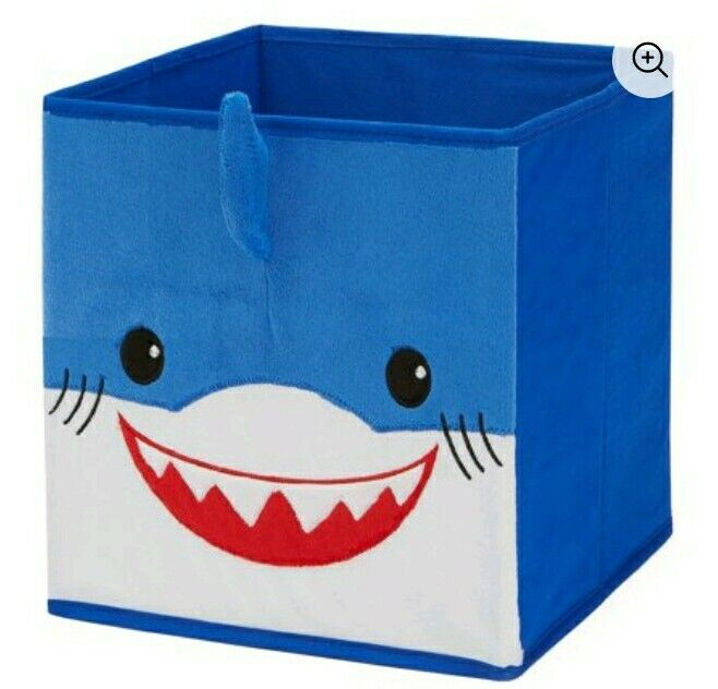 Mainstays Kids Collapsible Shark Blue Storage Bin New Sealed 10.5WX10.5DX11H