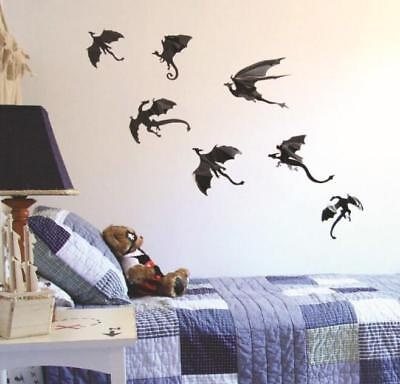 Halloween 3D Dragons Wall Stickers Art Room Removable Wallpapers Party Decal DIY - Halloween Party Wallpaper