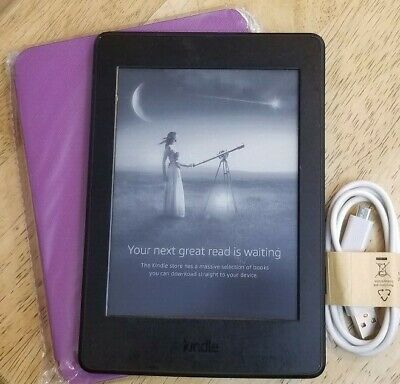 Amazon Kindle Paperwhite 3rd (7th Generation) 6in, WiFi, Black, eReader - w/Cord