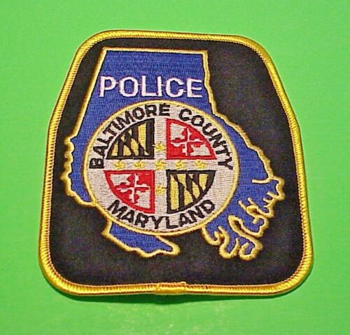 """BALTIMORE COUNTY  MARYLAND  MD   4 3/4""""  POLICE PATCH  FREE SHIPPING!!!"""