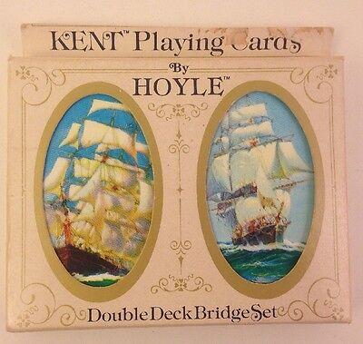 Sailing Ship-Kent Playing Cards-Hoyle Double Deck Bridge Set-Plastic Coated 3451