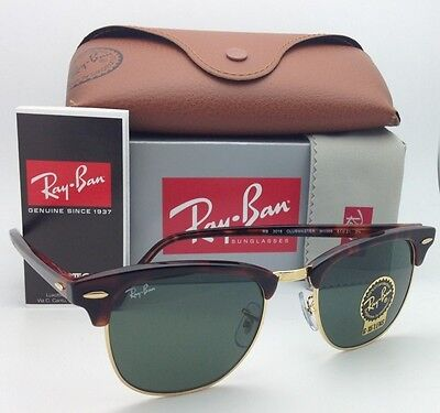 0eaf457828 Ray-Ban CLUBMASTER Sunglasses RB 3016 W0366 49-21 Tortoise Gold Frames G