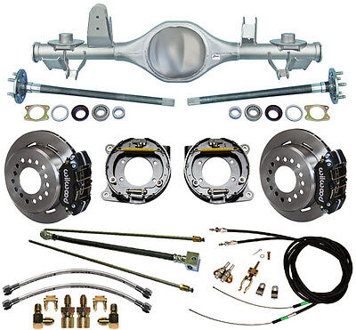 CURRIE 97-06 JEEP WRANGLER TJ REAR END & WILWOOD DISC BRAKES,LINES,CABLES,AXLES