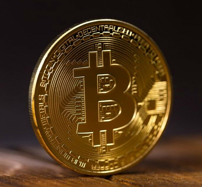Gold BTC Coin commemorative coins Physical Bitcoins Casascius Collection NBV4