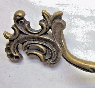 Art Nouveau French A355 Drawer Pull Handle Aged Brass 2-1/2 Centers Antique - $24.90