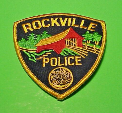 "ROCKVILLE  INDIANA  IN  ( COVERED BRIDGE )  4"" POLICE PATCH  FREE SHIPPING!!!"