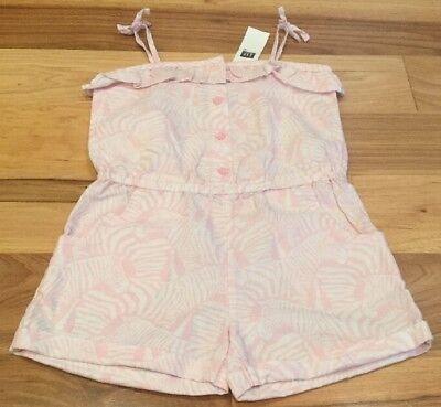 Baby Gap Girls 3 / 3T Pink & White Zebra Shorts Jumpsuit. Nwt - Zebra Girls