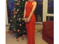 Women's red formal dress. Size 6 and tailored.