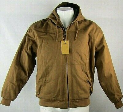 American Outback Men's Hooded Brown Canvas Work Jacket Style 15 (L,XL,2XL,3XL) Outback Canvas Vest