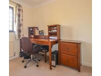 Stylish Desk with matching Filing Cabinet and Chair - Local Delivery Possible
