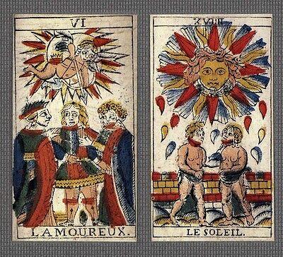 TAROCCO DI MARSIGLIA SVIZZERA 1804 TAROT CARD DECK - LTD ED. REPLICA *NIB *