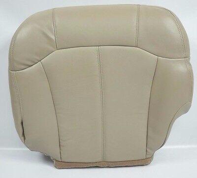 - 2000 2001 2002 GMC Yukon Driver Bottom Leather Seat Cover light Tan Trim#522-922