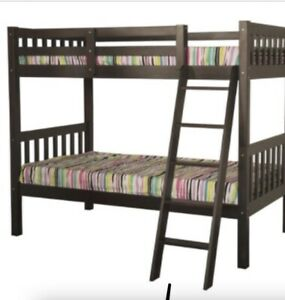 Solid wood white bunk bed
