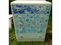 Stunning solid Upcycled chest of drawers *unique*