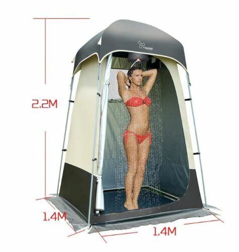Outdoor Camping Pool Portable Pop Up Shower Bathroom Booth W/ 20L Shower Bag