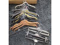 45 coat hangers Free to collector