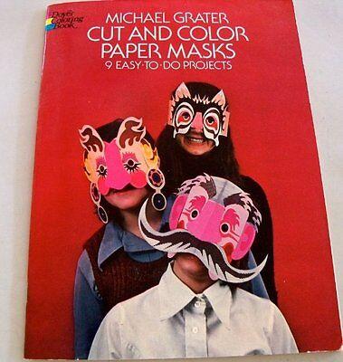 Halloween Coloring Paper (Cut & Color Paper Masks by Michael Grater Teacher Parent Plays Halloween)