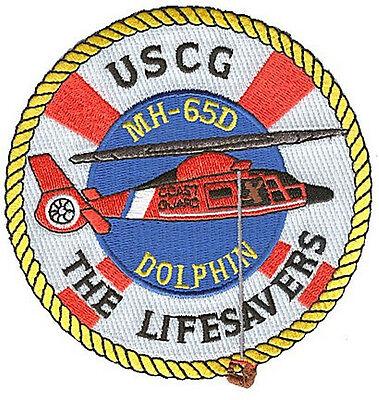 MH-65D Dolphin Lifesavers W5218 USCG Coast Guard patch  helo hoisting basket