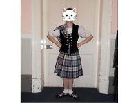 Aboyne outfit with underskirt & brooch £80