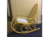 Vintage cane bamboo rocking chair excellent condition