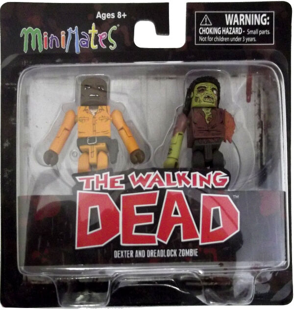 THE WALKING DEAD Series Three Minimates DEXTER and DREADLOCK ZOMBIE NEW