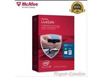 McAfee Live safe antivirus security 2016, 2year unlimited devices