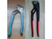 water pump pliers/grips x 2 channelock/ck