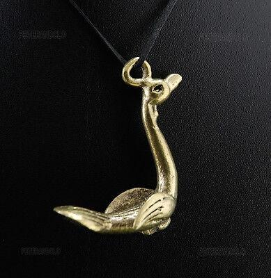 Pendant Bird Ashanti Ibis Tribale Bronze African A