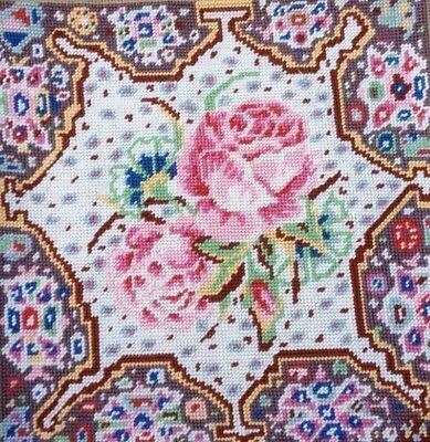 EHRMAN RARE VINTAGE Kaffe Fassett ESPHAHAN ROSE Tapestry Needlepoint KIT ENGLISH for sale  Shipping to United States