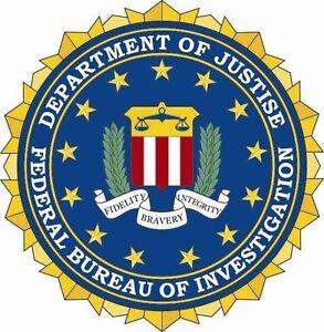 Aufkleber FBI Siegel Flagge Seal Fahne USA Autoaufkleber Sticker 20 cm