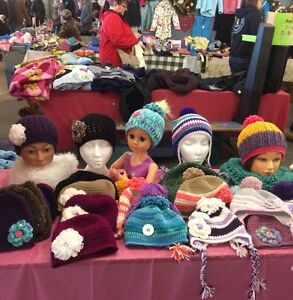 Winter toques , scarfs and hats